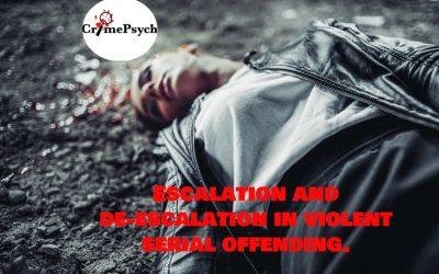 Escalation and de-escalation of violence in serial crimes